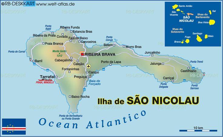 Map of Sao Nicolao (Cape Verde) #CapeVerde #TeamCapeVerdean #TeamFunana