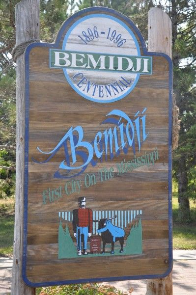 Bemidji, MN first city on the Mississippi.