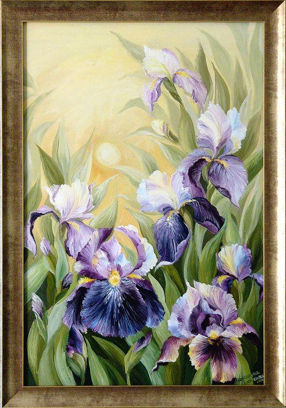 Картины - Цветы - Ирисы (Холст, масло)
