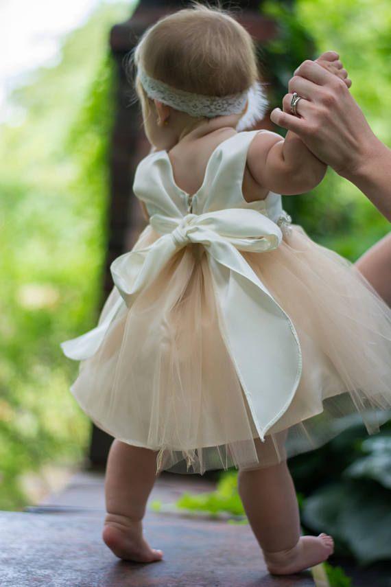 Baby bautizo vestido bautismo vestido blanco bebé blanco