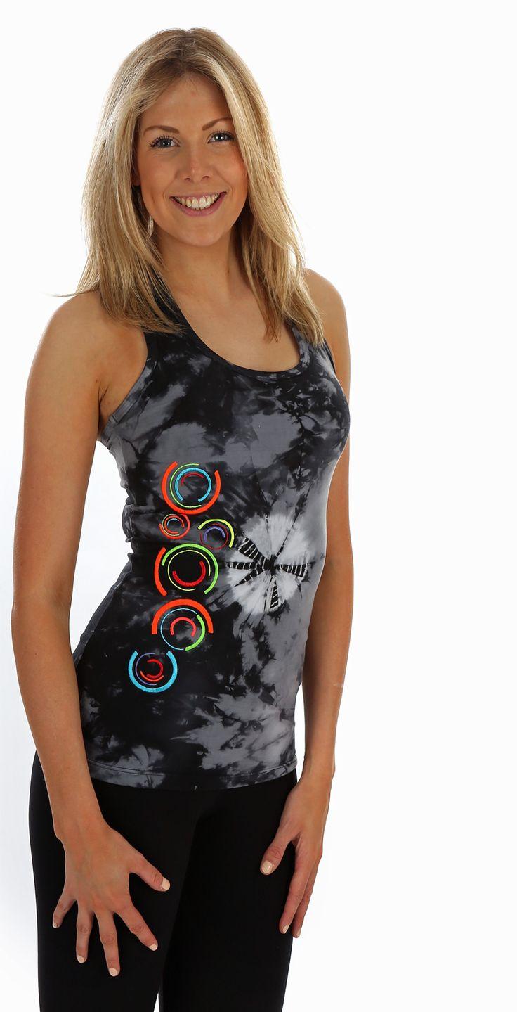 Margarita Batik Neon Bubble Tank | Daisy Fitness Wear