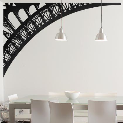 """Ajoutez de la modernité à votre intérieur grâce à ce sticker """"Arche de la Tour Eiffel"""" qui suggère finement la célèbre Dame de fer."""