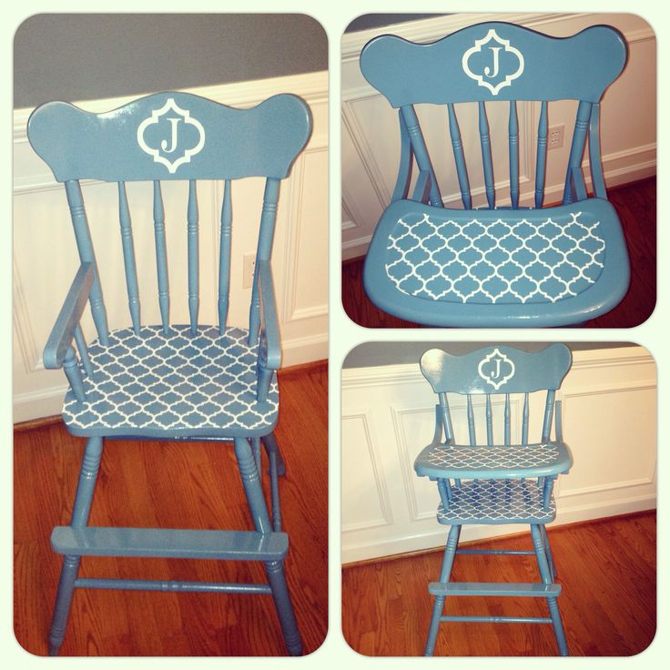DIY painted high chair, vintage high chair, painted highchair, highchair makeover