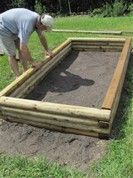 High Resolution Landscape Timbers Raised Bed #1 Raised Garden Beds With Landscape Timbers #raisedgardenbeds