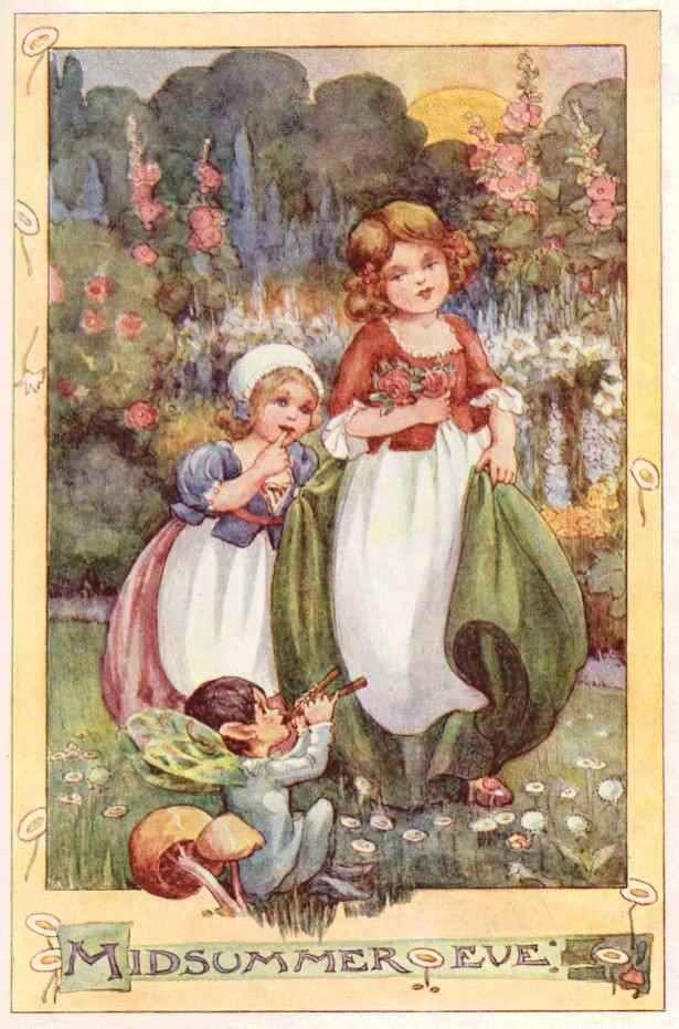 *~❤•❦•:*´Anne Anderson`*:•❦•❤~ The Sundial - The Rosie-Posie Book, 1911
