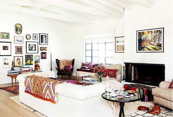 Go Inside an Eclectic Mountain Hideaway via @domainehome