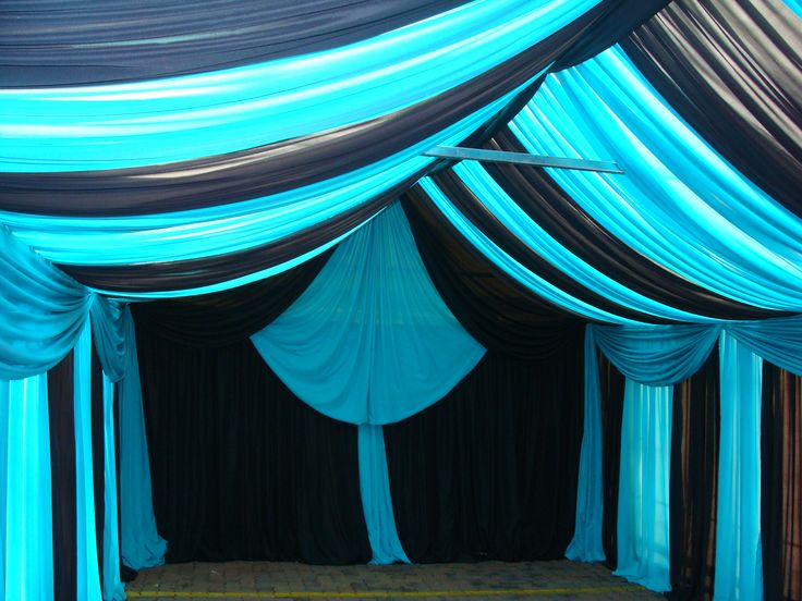 Marquee draping- Blue & Black