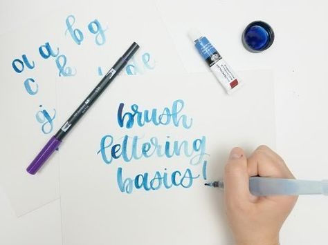 Brush Lettering For Beginners - Modern Calligraphy Tutorial (ALL YOU NEED TO KNOW!) - YouTube