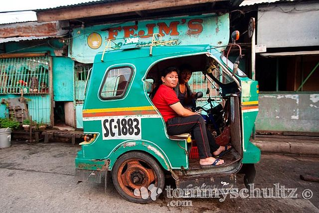 Pedicab tricycle parked on the street near Surigao City ferry port | Flickr - Photo Sharing!