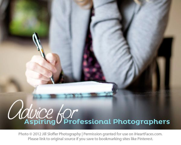 advice for the aspiring professional photographers.