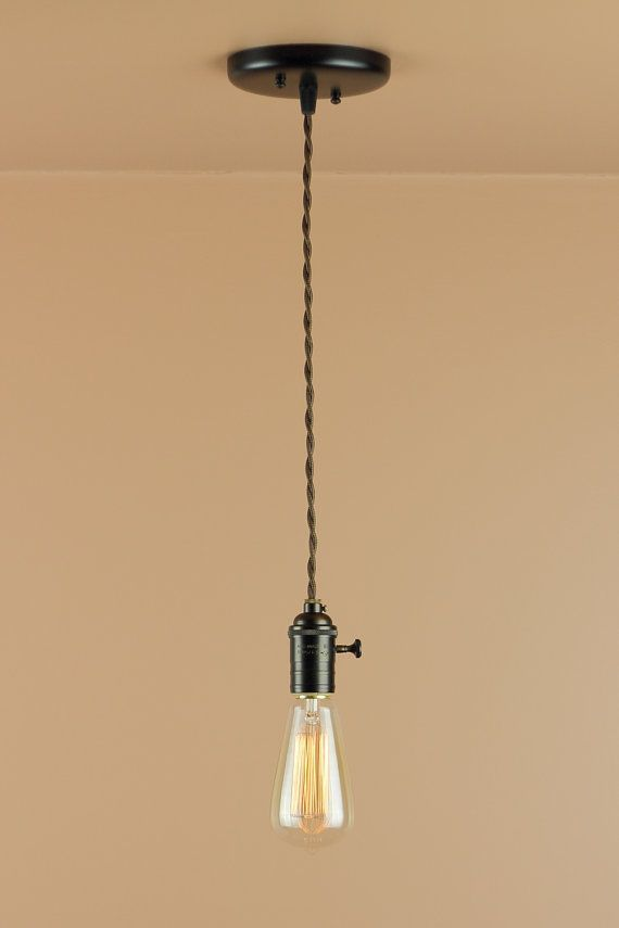 Bare Bulb Pendant Light - Edison Light Bulb - Antique Style Reproduction Wire - Minimalist Home & 114 best Let There Be Light images on Pinterest | Farmhouse ... azcodes.com