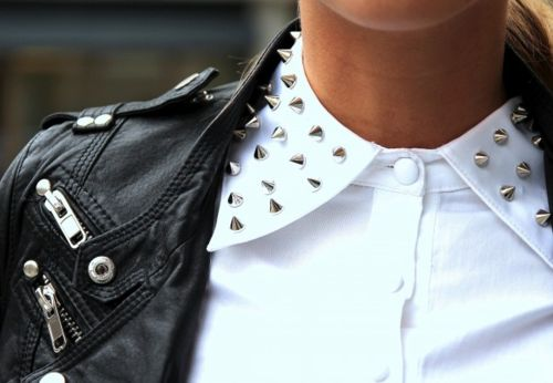Studs and leather.