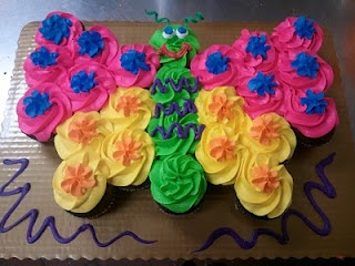 almost easy to do cupcake butterfly...child birthday maybe?