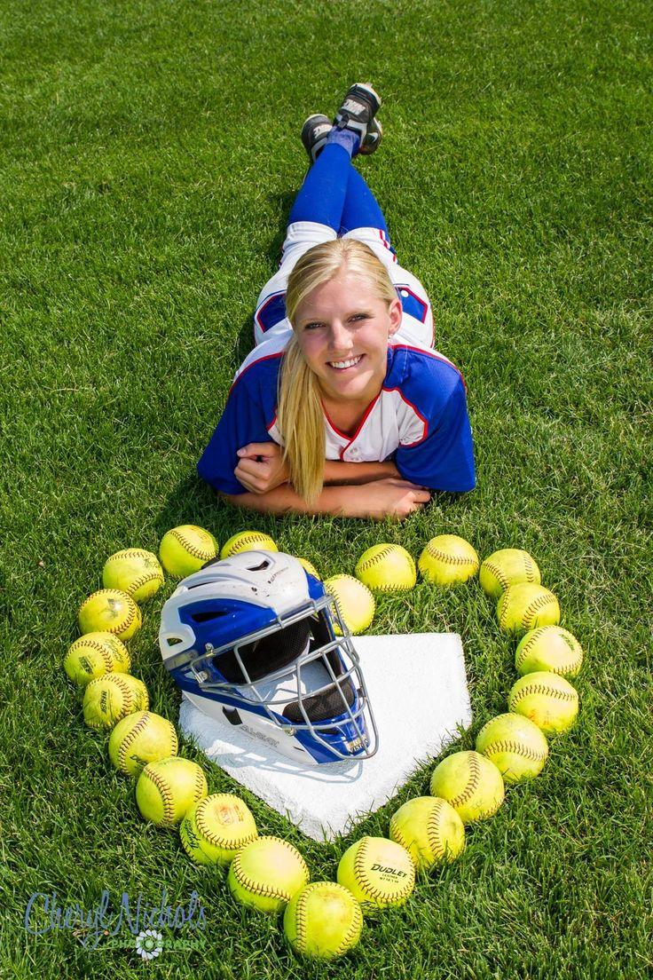 Senior photos   girls   softball   catcher   outside   photo ideas   Cheryl Nichols Photography. http://cherylnicholsphotography.com