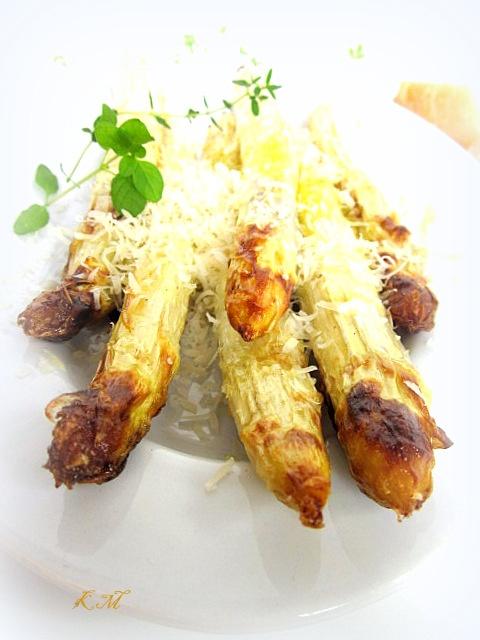 Zakamarki mojej kuchni: Szparagi białe z piekarnika