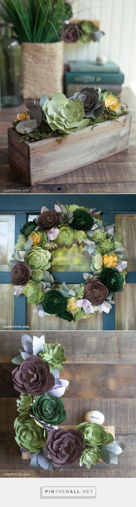 136 best paper flowers images on pinterest paper flowers diy patterns and tutorial for simple paper succulents paper flowers for weddingorigami izmirmasajfo