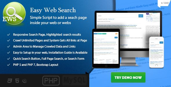 Easy Web Search - Simple Search Engine to Your Web Site