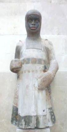 Statue, um 1245, im Chorraum des Doms in Magdeburg, die erste Darstellung als Afrikaner in der christlichen Kunst des Abendlandes