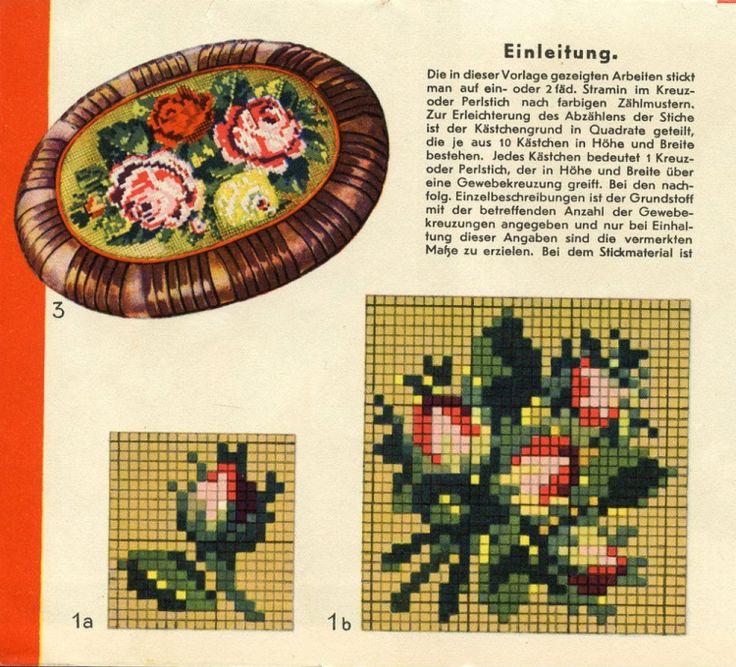 Gallery.ru / Фото #2 - Blumenmuster auf Stramin - natashakon