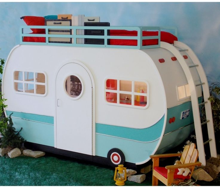 42 best camper playhouse images on pinterest doll houses for Diy indoor playhouse