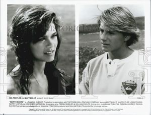 "1987 Press Photo Nia Peeples and Matt Adler in ""North Shore"""