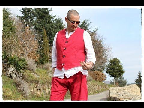 *Gilet chic et baggy homme en lin   L'Univers ethnique et éthique - sarouels, vêtements ethniques chic.