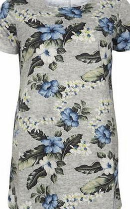 Dorothy Perkins Womens Poppy Lux Grey Marl Yolanda Tunic Dress- Grey marl tee shirt dress with round neck and tropical design. Length 88cm. 95% Polyester,5% Elastane. Machine wash delicate with similar colours. http://www.comparestoreprices.co.uk/dresses/dorothy-perkins-womens-poppy-lux-grey-marl-yolanda-tunic-dress-.asp