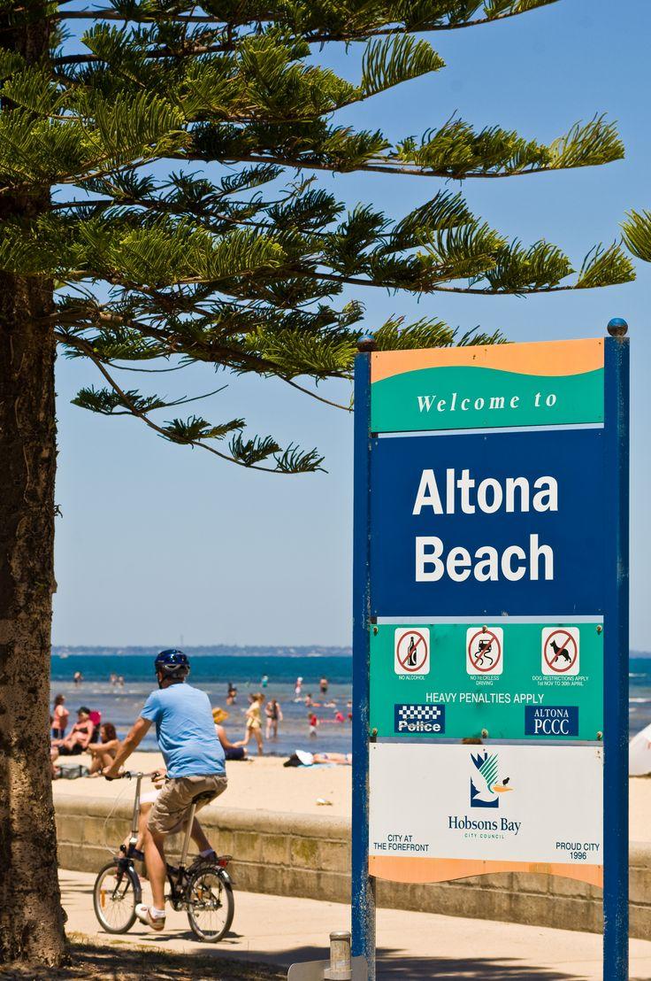 Cycling at Altona Beach