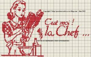 """Bonsoir, Suite à la publication de la grille """"cuisine - c'est moi le chef"""", vous avez été nombreuses à me solliciter pour une version féminine. Voici ce que j'ai fait. J'espère qu'elle vous plaira. Pour l'imprimer, cliquez sur l'image. Je vous remercie..."""