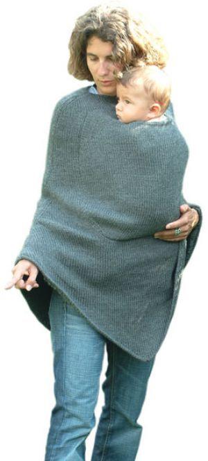 MamaPoncho elegant wool babywearing poncho