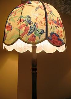 vintage 1990's lamp, Warner Print