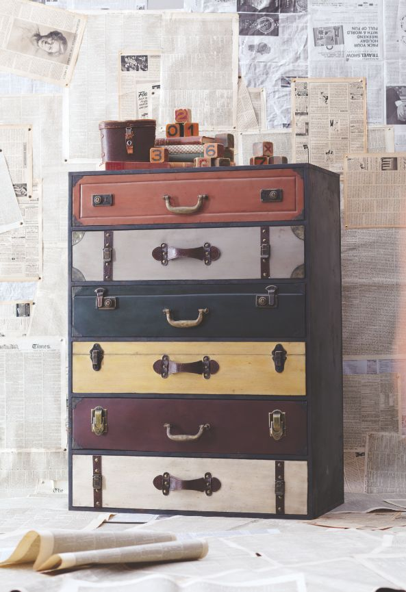 Trenton Suitcase Chest at Cost Plus World Market >>#WorldMarket Urban Dwellings Collection