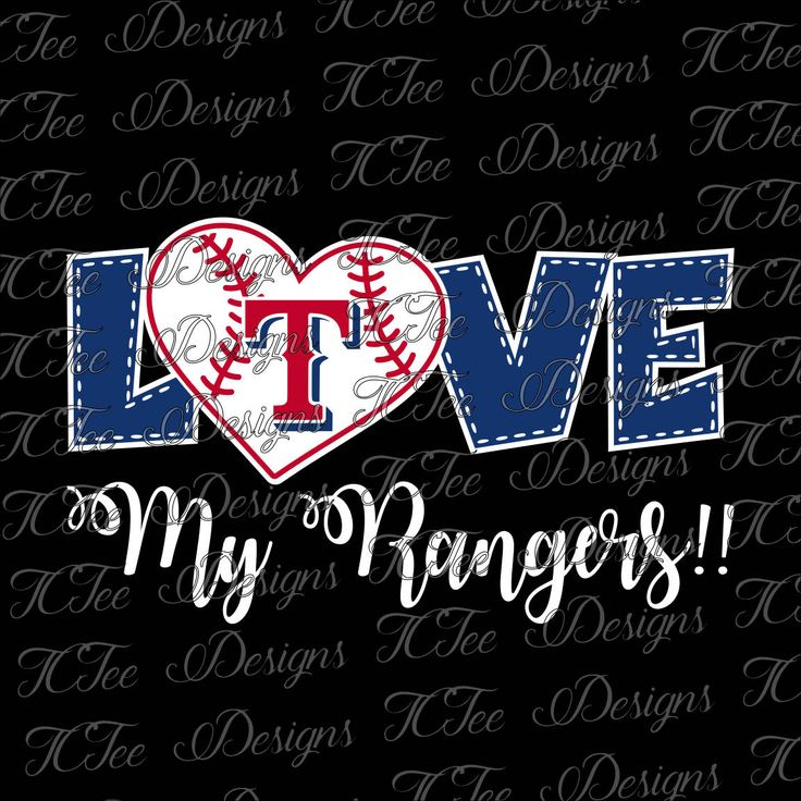 Love My Rangers - Texas Rangers Baseball - SVG Design Download - Vector Cut File by TCTeeDesigns on Etsy