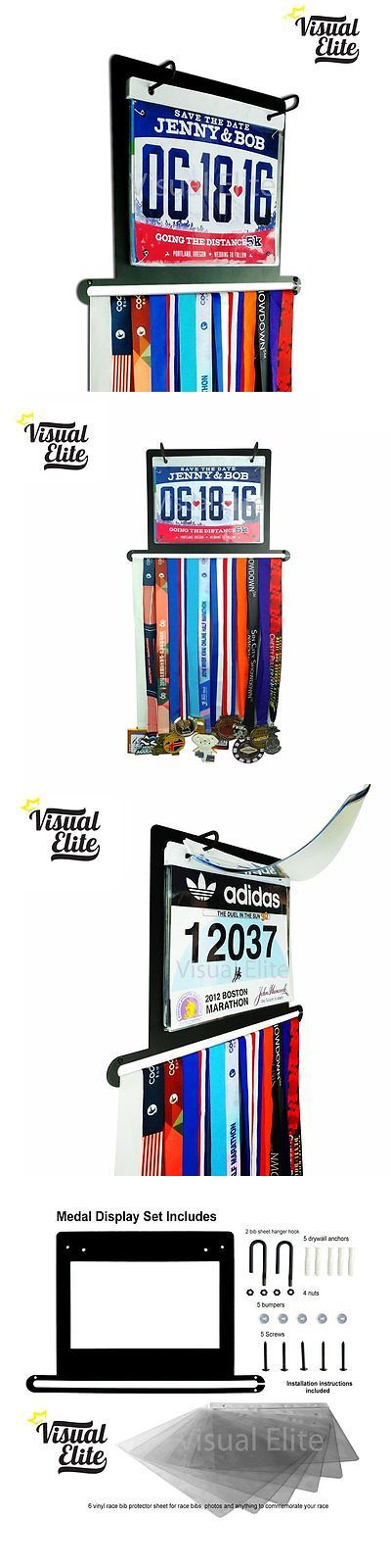 Other Fitness Clothing 158920: Visual Elite Medal And Race Bib Display. Great Ornament Piece For Running That -> BUY IT NOW ONLY: $39.96 on eBay!