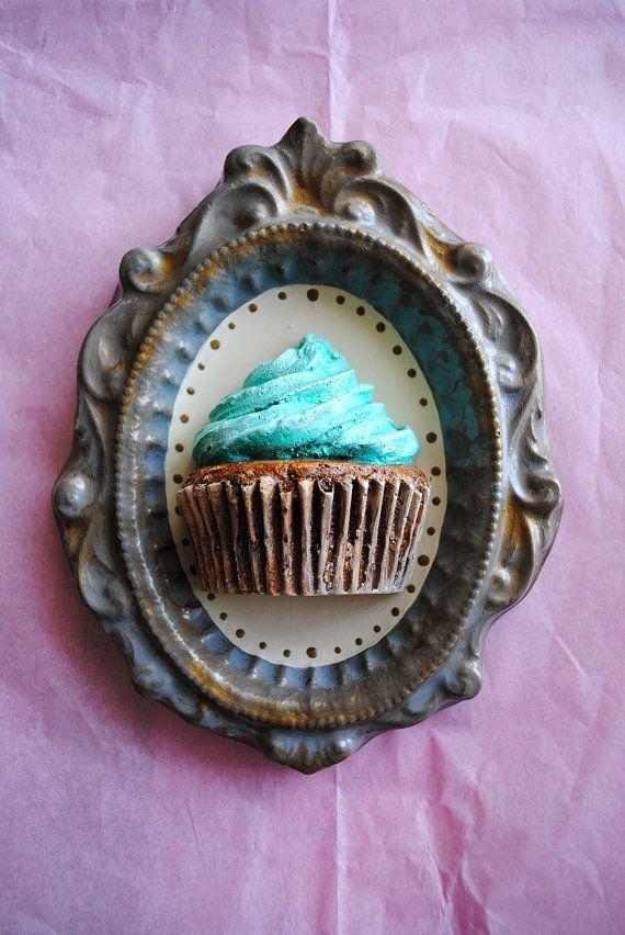 fake cupcake on a plate