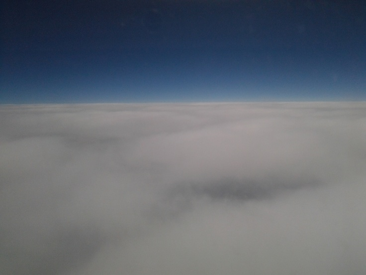 Amazing picture I got when we got above the clouds