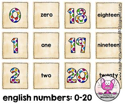 Englisch in der Grundschule: numbers 0-20 - Zuordnungskarten