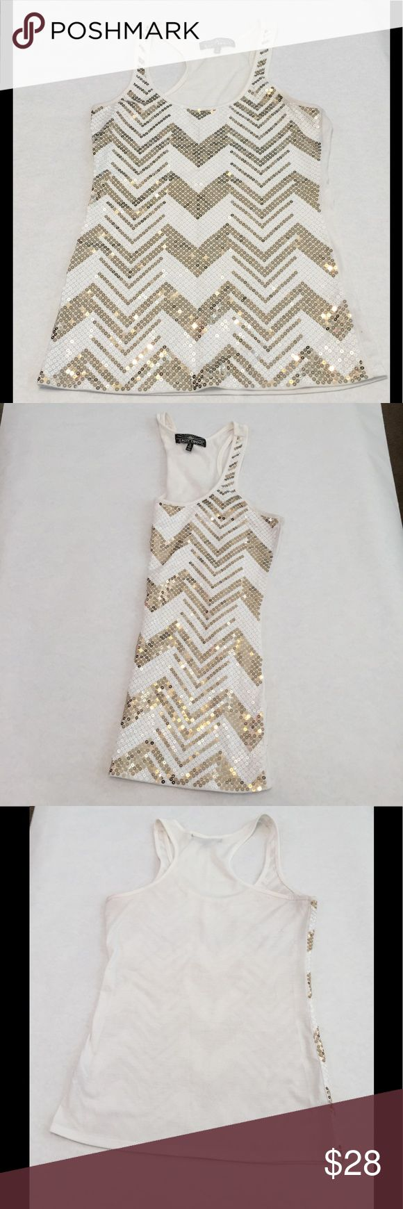 New Almost Famous gold sequin tank size small New Almost Famous gold sequin tank size small. This is new without tags. Almost Famous Tops Tank Tops