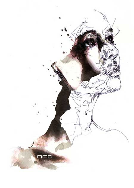 The Illustrations of Florian Nicolle (Puppies and Flowers)