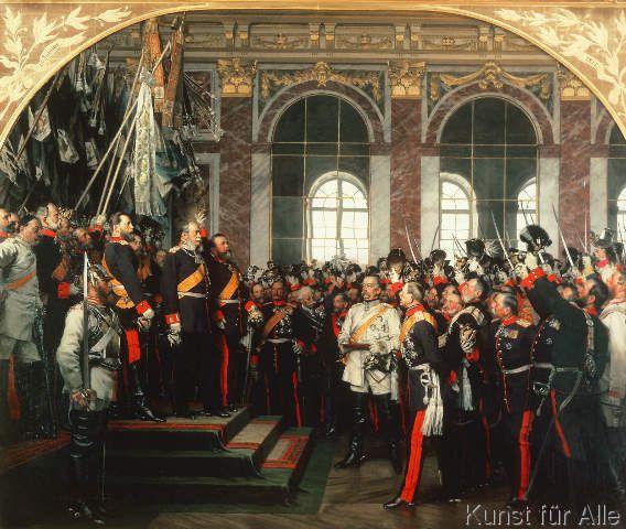 Anton Alexander von Werner - Die Proklamierung des Deutschen Kaiserreiches