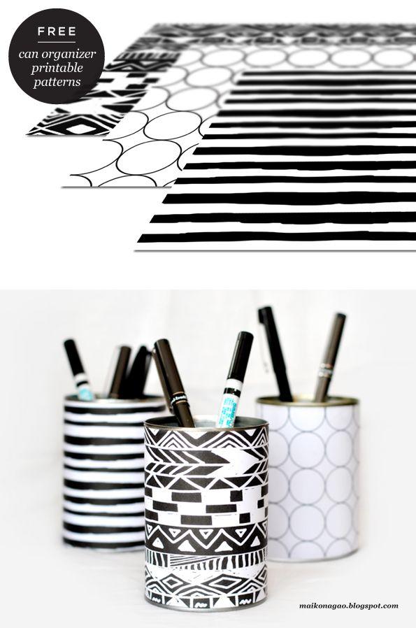 DIY simple et joli avec des boites de conserve.