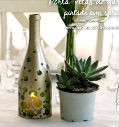 Tea candle holders from wine bottles // Mécsestartó / mécsesvédő borosüvegekből // Mindy - craft & DIY tutorial collection