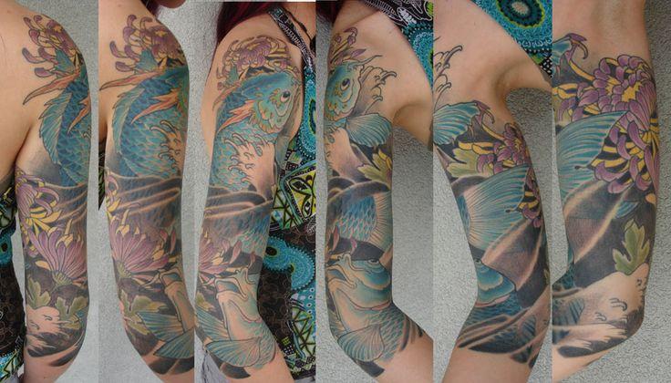 Joey ortega triple crown tattoo austin texas koi for Minimalist tattoo artist austin
