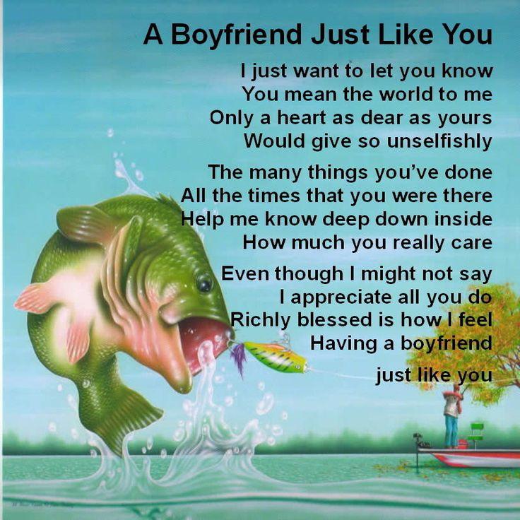 Personalised Coaster - Boyfriend  Poem - Fishing Design   +  FREE GIFT BOX