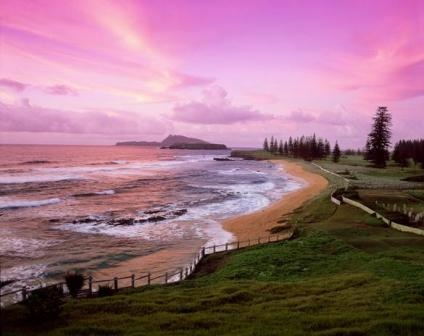 Norfolk Island - can't remember  Been on at least 2 occasions doing outreaches with church when we were young - loved it - very rugged and old school