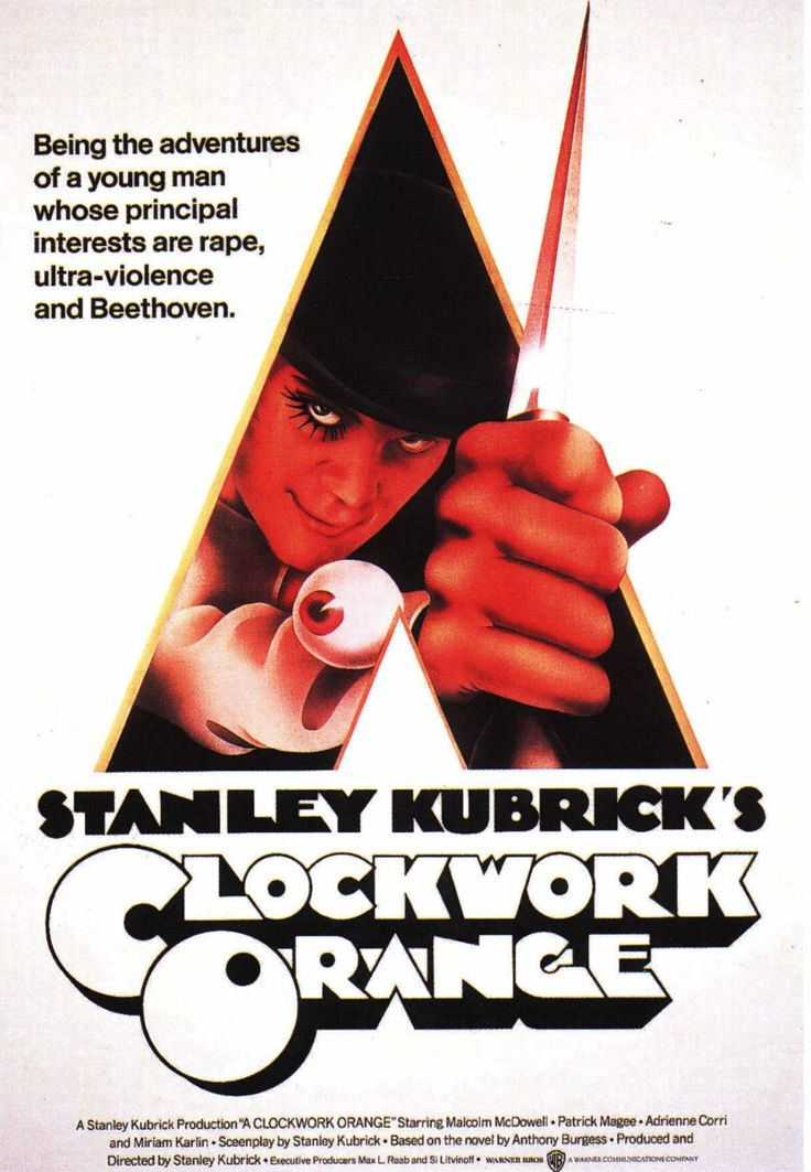 """A Clockwork Orange"" > 1971 > Directed by: Stanley Kubrick > Psychological Sci-Fi / Science Fiction / Satire / Juvenile Delinquency Film"