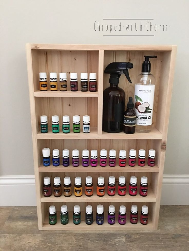 Unfinished Essential Oil Storage Wall Essential Oil