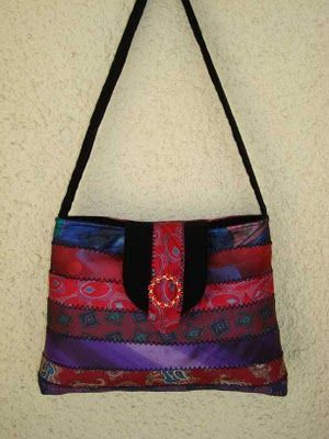 purses made from mens neckties | made with neckties | purses, totes, baskets, wallets, lots of inspira ...