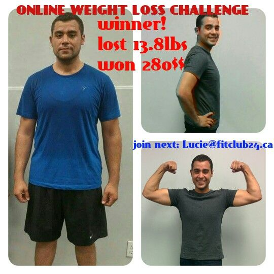 Want to lose, to win?? Join us: Lucie@fitclub24.ca