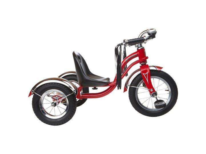 Schwinn roadster trike 12 красный – unisex. Подходит как для мальчиков, так и для девочек благодаря универсальному цвету. Трехколесный велосипед Schwinn roadster trike 12 выполнен в стиле ретро с применением на новейших технологий и современных материалов.